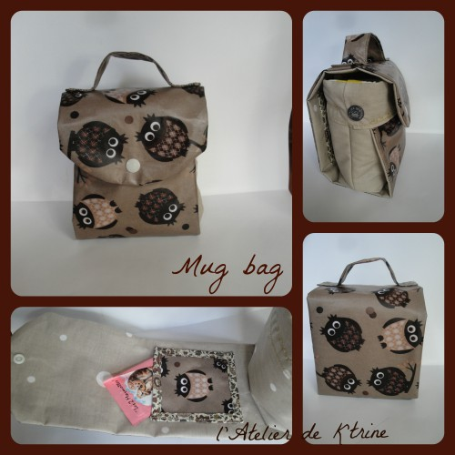 mug bag, couture, chouette